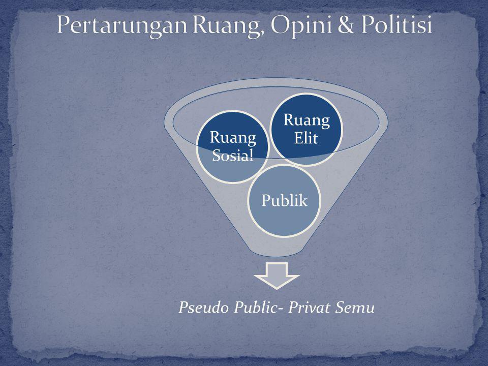 Pseudo Public- Privat Semu Publik Ruang Sosial Ruang Elit