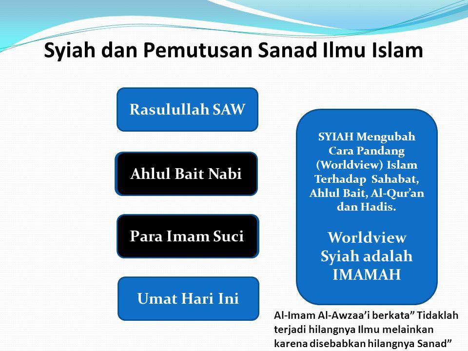 Syiah dan Pemutusan Sanad Ilmu Islam Rasulullah SAW Shahabat Nabi Tabi'in Umat Hari Ini Ahlul Bait Nabi Para Imam Suci SYIAH Mengubah Cara Pandang (Wo