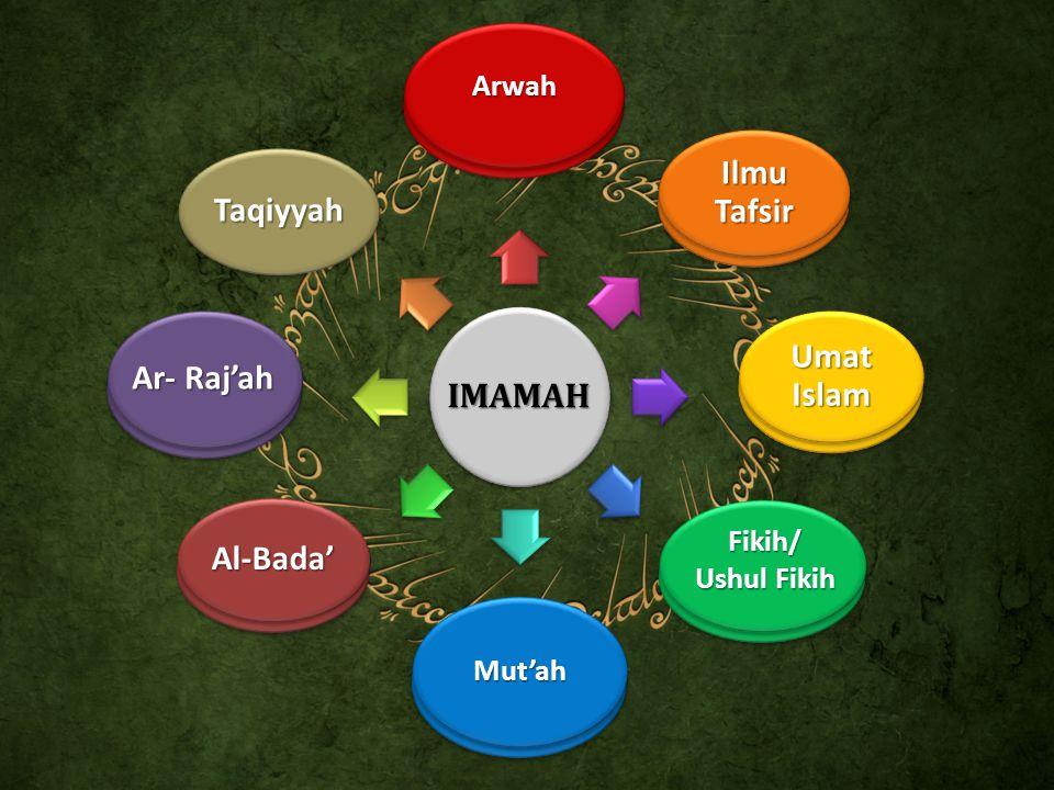 IMAMAH Ilmu Tafsir Umat Islam Fikih/ Ushul Fikih Mut'ah Al-Bada' Ar- Raj'ah Taqiyyah Arwah Ilmu Tafsir Umat Islam Fikih/ Ushul Fikih Mut'ah Al-Bada' A