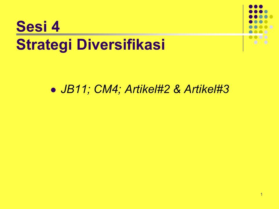 1 Sesi 4 Strategi Diversifikasi JB11; CM4; Artikel#2 & Artikel#3
