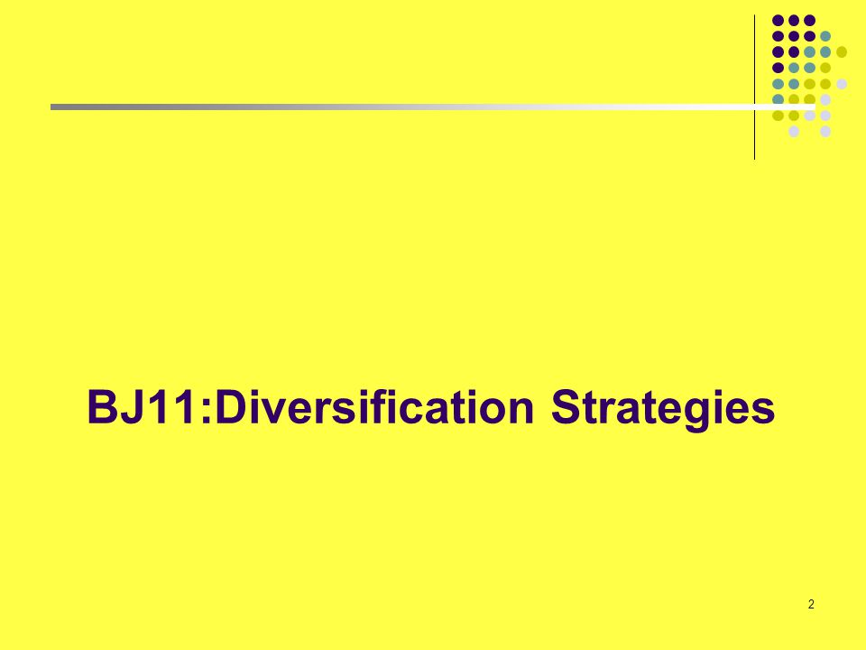 2 BJ11:Diversification Strategies