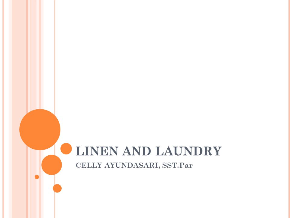 LINEN AND LAUNDRY CELLY AYUNDASARI, SST.Par