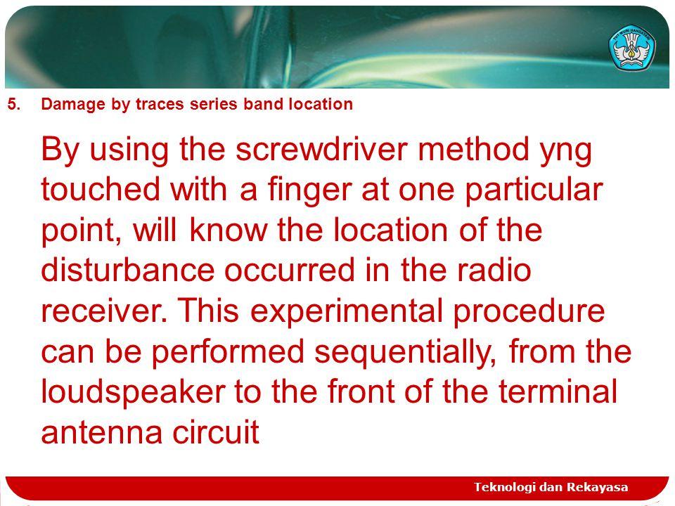 Teknologi dan Rekayasa Band measurement with AVO meter