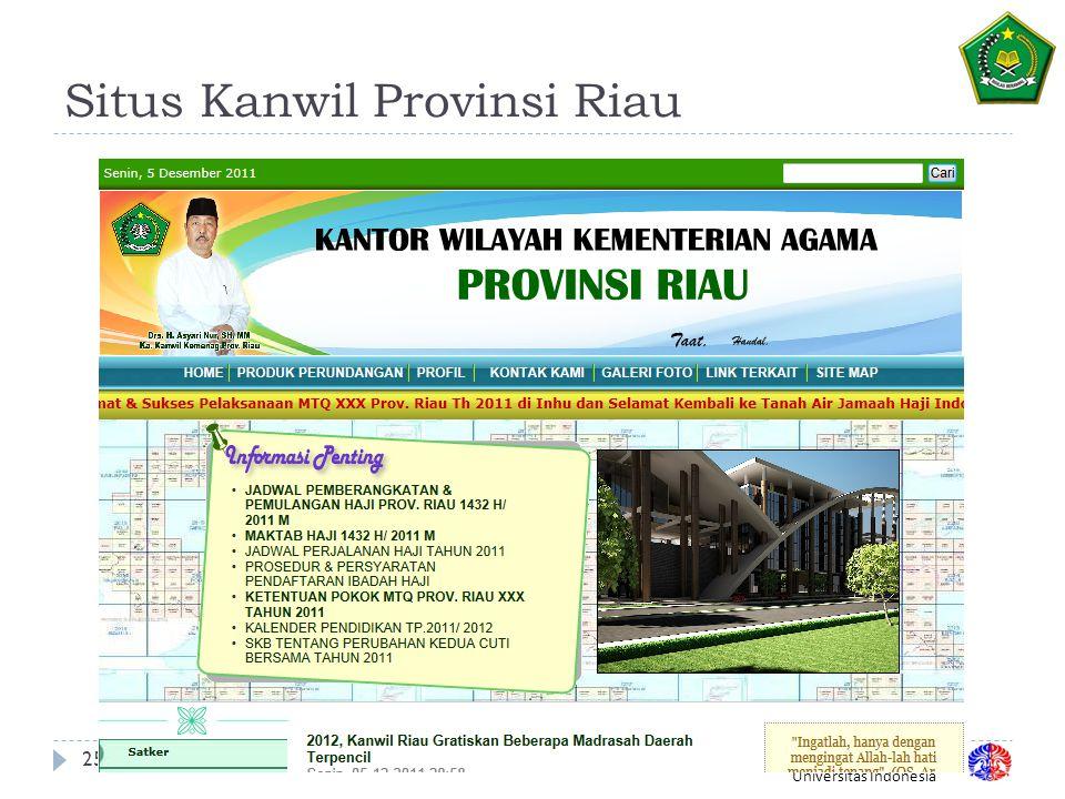 Fakultas Ilmu Komputer Universitas Indonesia Situs Kanwil Provinsi Riau 25