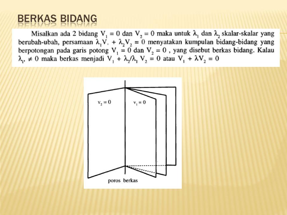 Contoh : 1.Tentukan jarak titik (4,7,3) ke bidang 2x + 6y – 3z = 13.