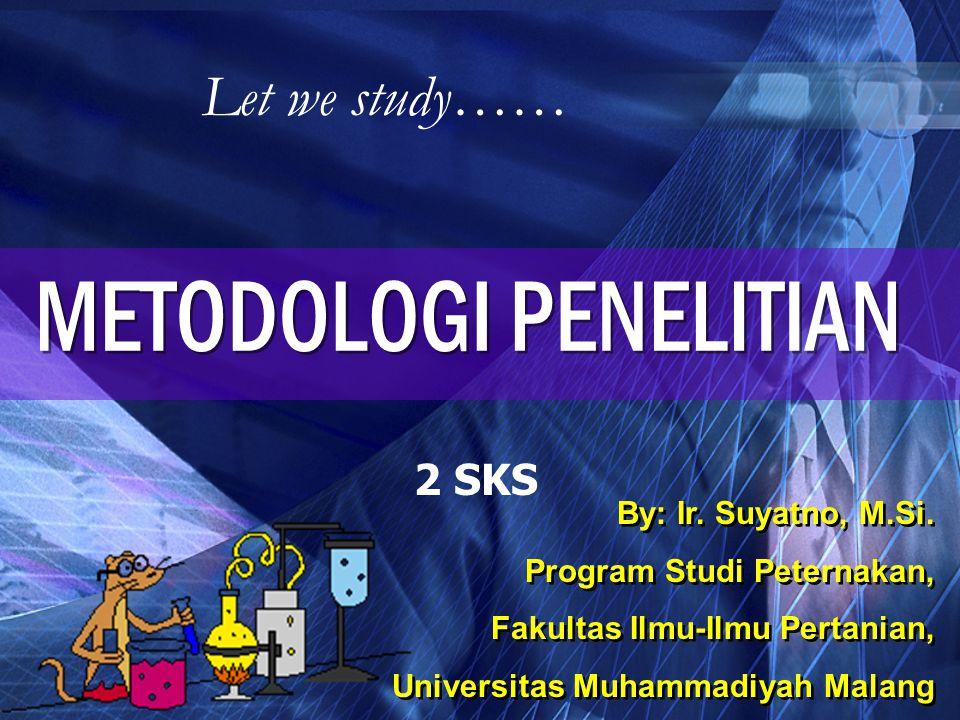 Dosen Pembina Ir.Suyatno, M.Si. Alumni : S1 Fak.