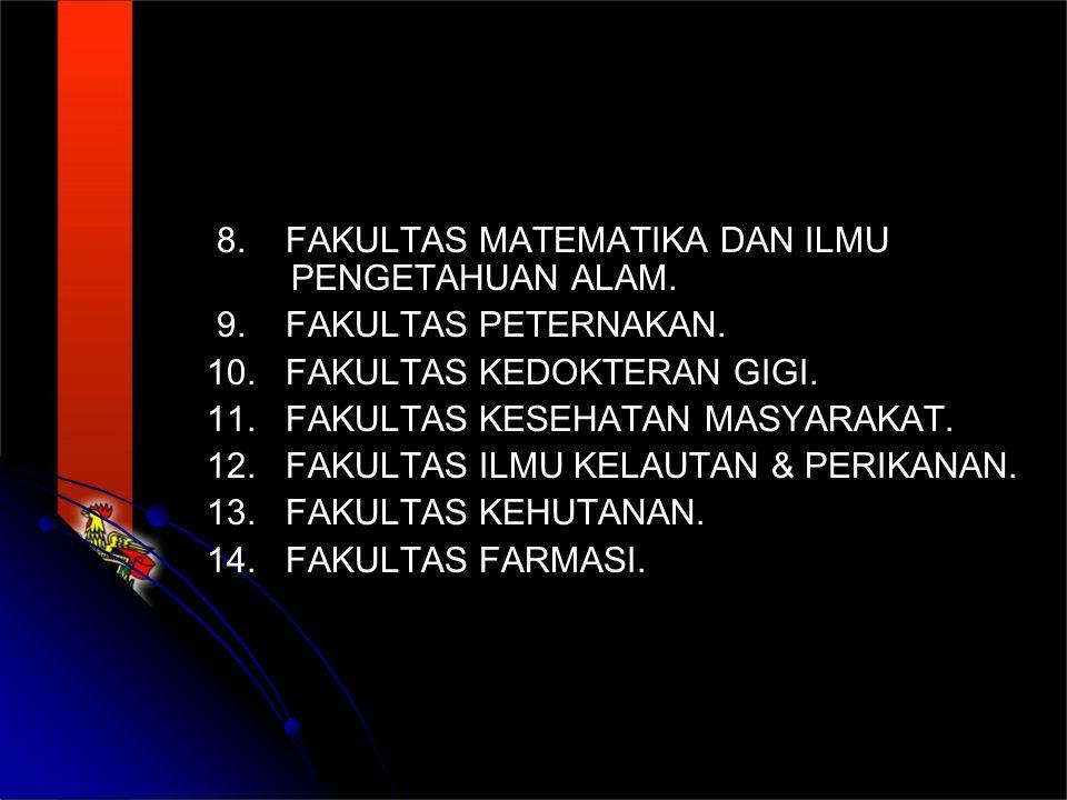 8.FAKULTAS MATEMATIKA DAN ILMU PENGETAHUAN ALAM. 9.