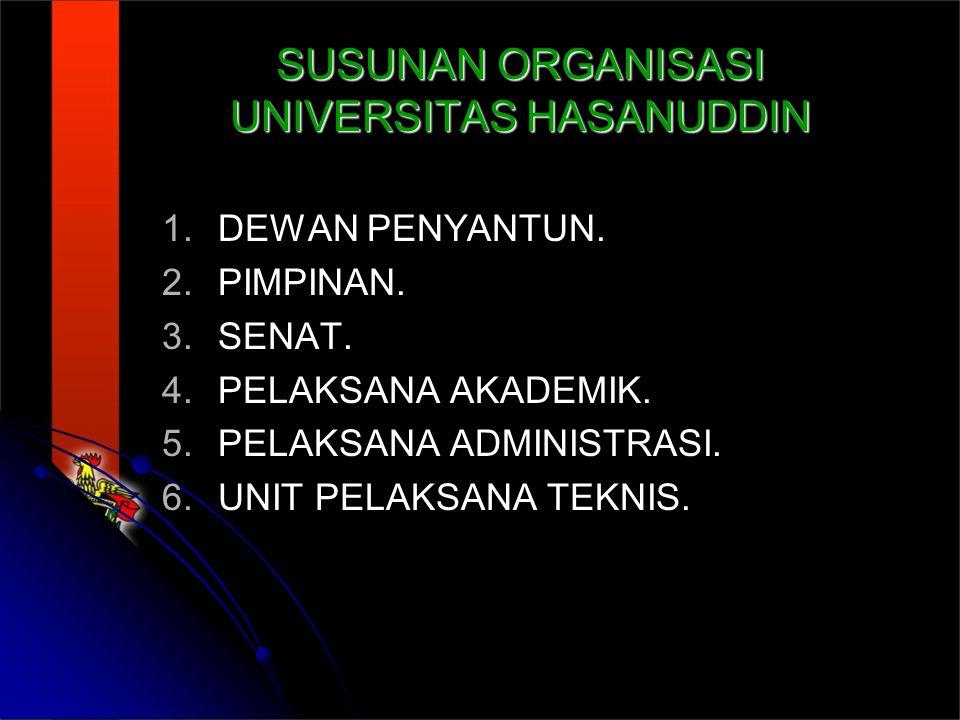 SUSUNAN ORGANISASI UNIVERSITAS HASANUDDIN 1.1.DEWAN PENYANTUN.