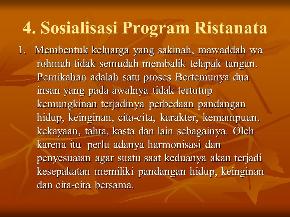 4.Sosialisasi Program Ristanata 1.
