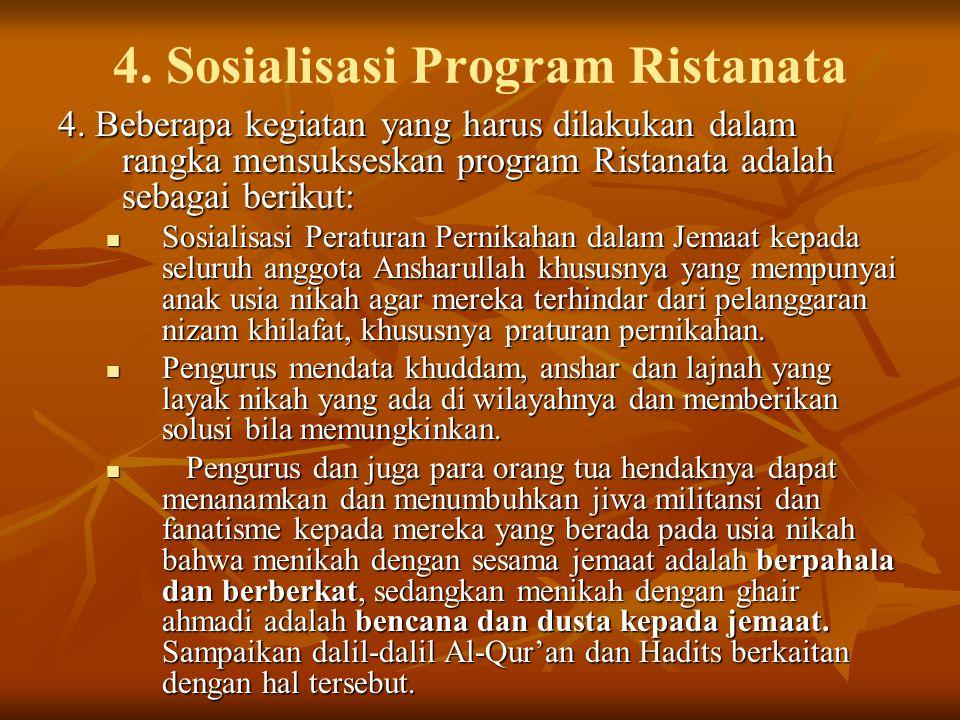 4.Sosialisasi Program Ristanata 4.
