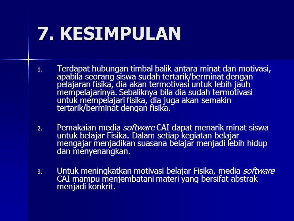 7.KESIMPULAN 1. 1.