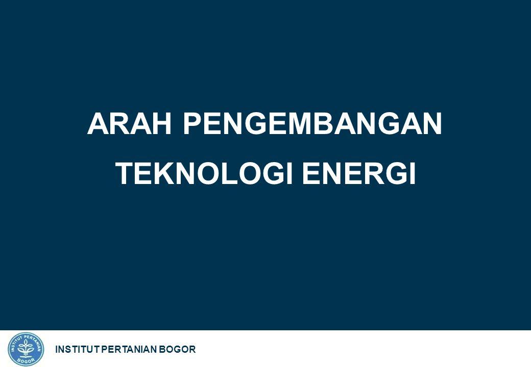 INSTITUT PERTANIAN BOGOR ARAH PENGEMBANGAN TEKNOLOGI ENERGI