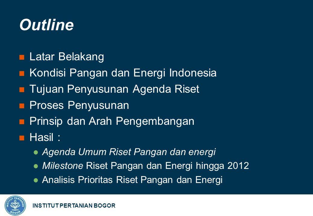 INSTITUT PERTANIAN BOGOR Milestone Riset Energi (1) Timeline Riset dan Pengembangan