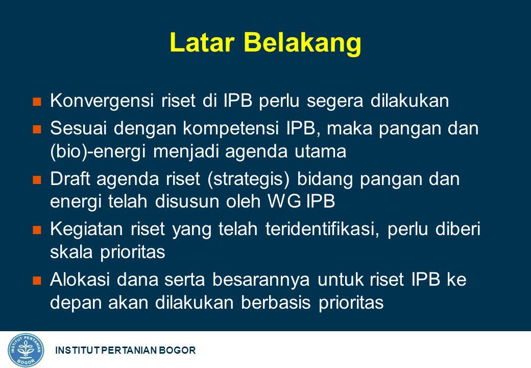 INSTITUT PERTANIAN BOGOR Milestone Riset Pangan (3)
