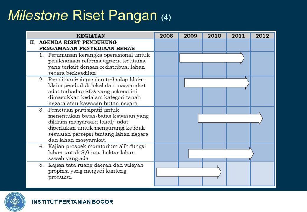 INSTITUT PERTANIAN BOGOR Milestone Riset Pangan (4)