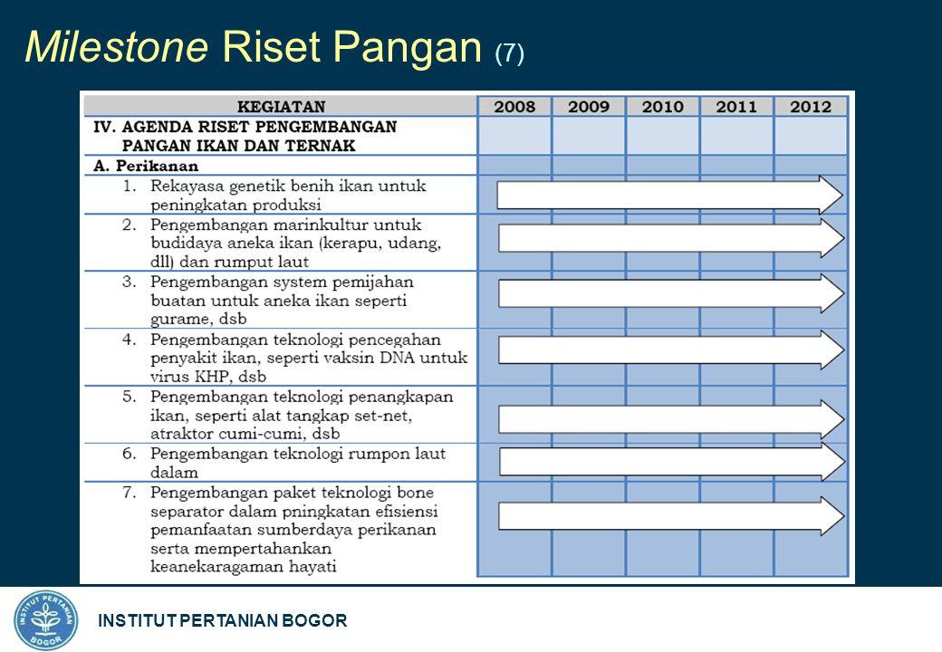 INSTITUT PERTANIAN BOGOR Milestone Riset Pangan (7)