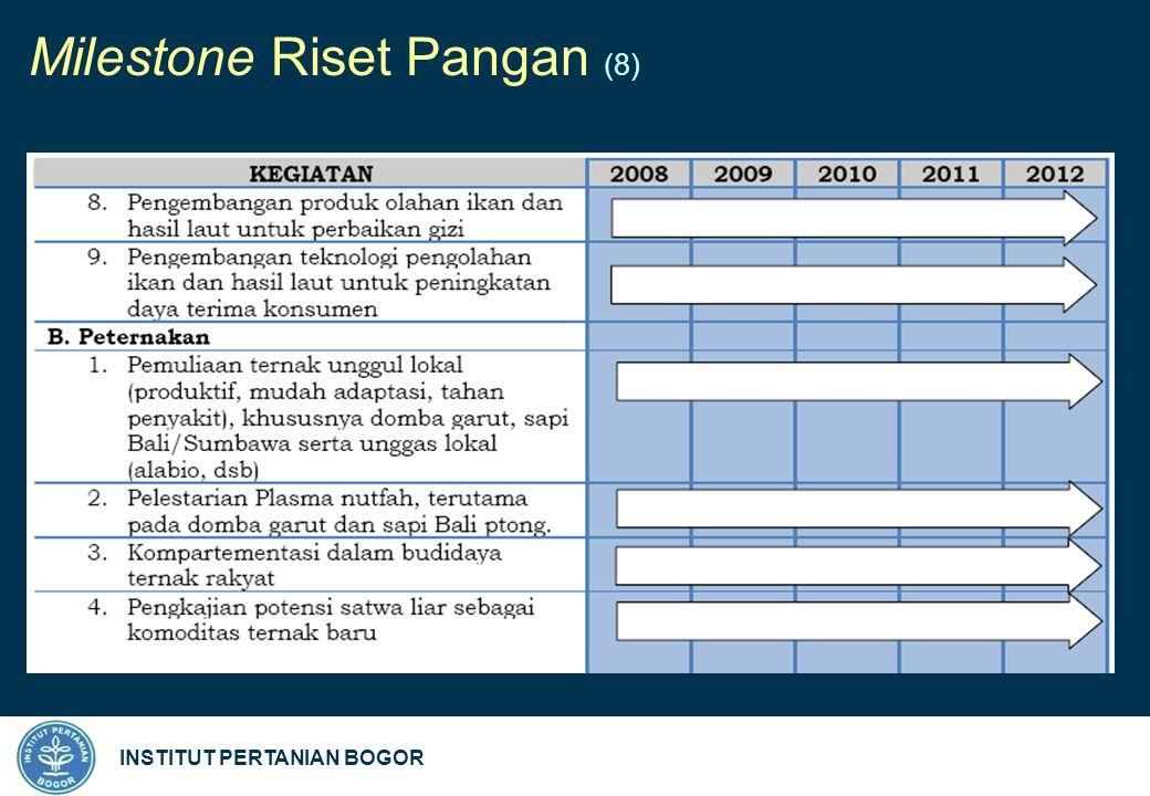 INSTITUT PERTANIAN BOGOR Milestone Riset Pangan (8)