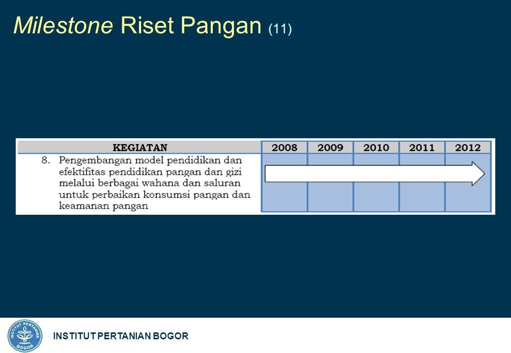 INSTITUT PERTANIAN BOGOR Milestone Riset Pangan (11)