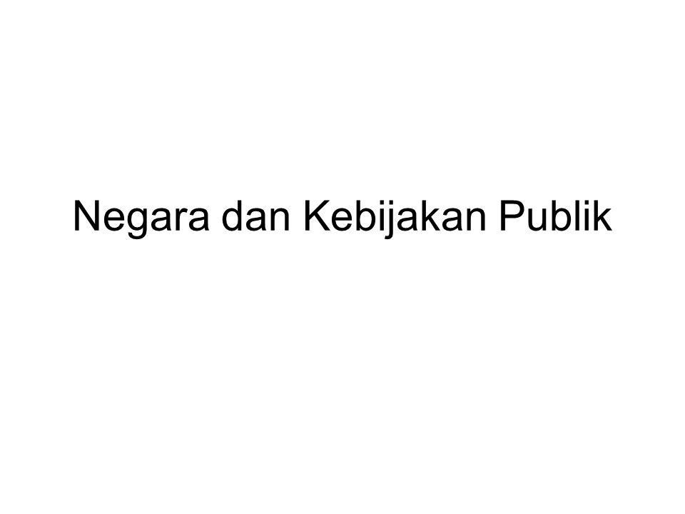 Negara dan Kebijakan Publik