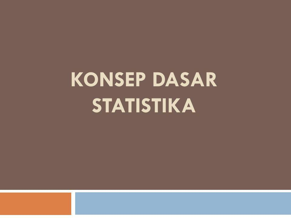 KONSEP DASAR STATISTIKA