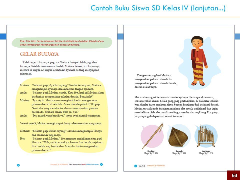 63 Contoh Buku Siswa SD Kelas IV (lanjutan...)