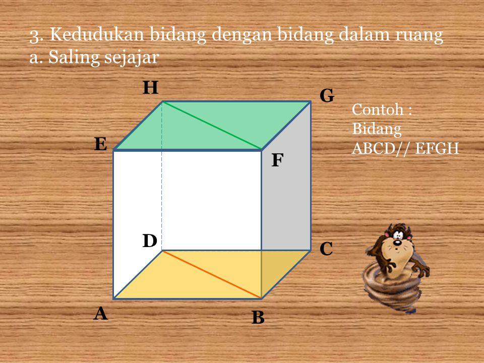 3.Kedudukan bidang dengan bidang dalam ruang a.