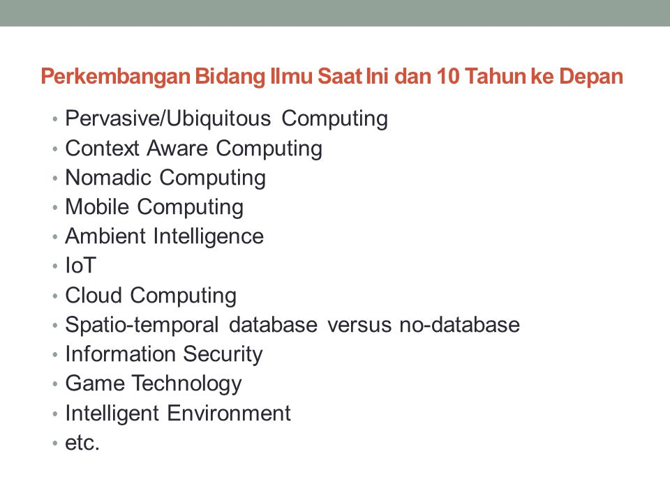 Contoh LO – PO untuk setiap SAP At the end of the programme, students are able to: 1 Demonstrate familiarity with established knowledge in the field of Computer Science (CS) and awareness of current development therein.
