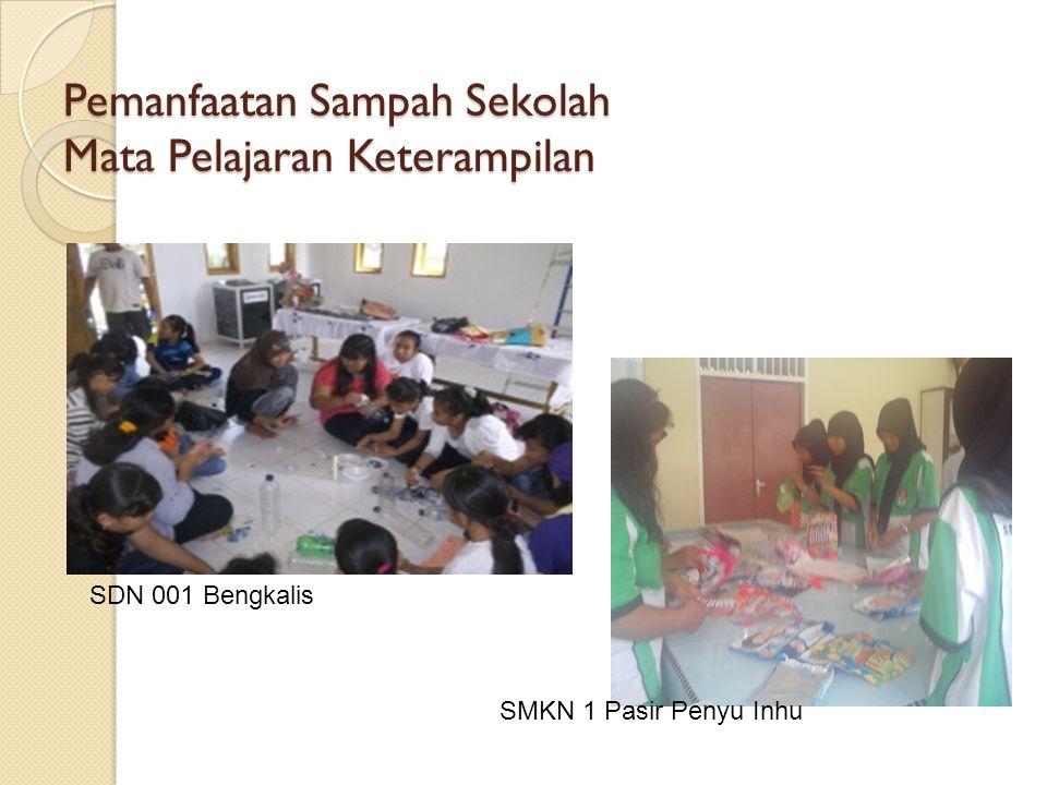 Pemanfaatan Sampah Sekolah Mata Pelajaran Keterampilan SDN 001 Bengkalis SMKN 1 Pasir Penyu Inhu