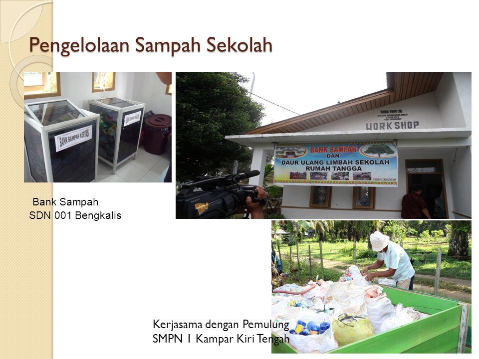 Pengelolaan Sampah Sekolah Bank Sampah SDN 001 Bengkalis Kerjasama dengan Pemulung SMPN 1 Kampar Kiri Tengah