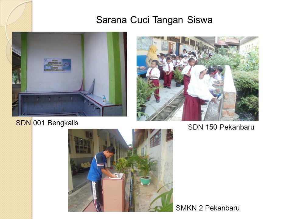 SDN 150 Pekanbaru Sarana Cuci Tangan Siswa SDN 001 Bengkalis SMKN 2 Pekanbaru