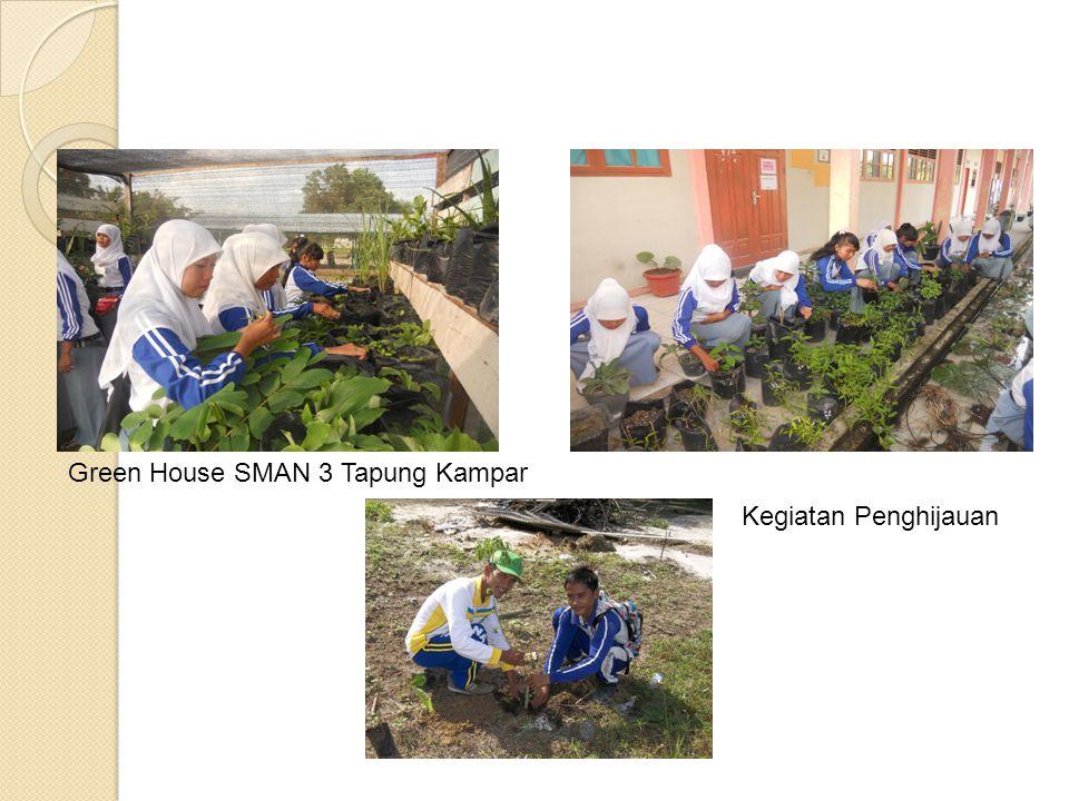 Green House SMAN 3 Tapung Kampar Kegiatan Penghijauan