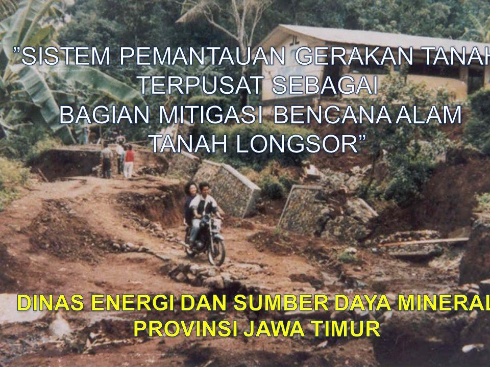Gerakan tanah merupakan salah satu jenis bencana alam yang sering terjadi di Indonesia, terutama selama musim hujan yang menyebabkan kerugian materil dan korban jiwa.