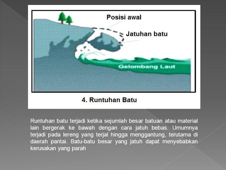 9.Pengikisan/erosi Pengikisan banyak dilakukan oleh air sungai ke arah tebing.