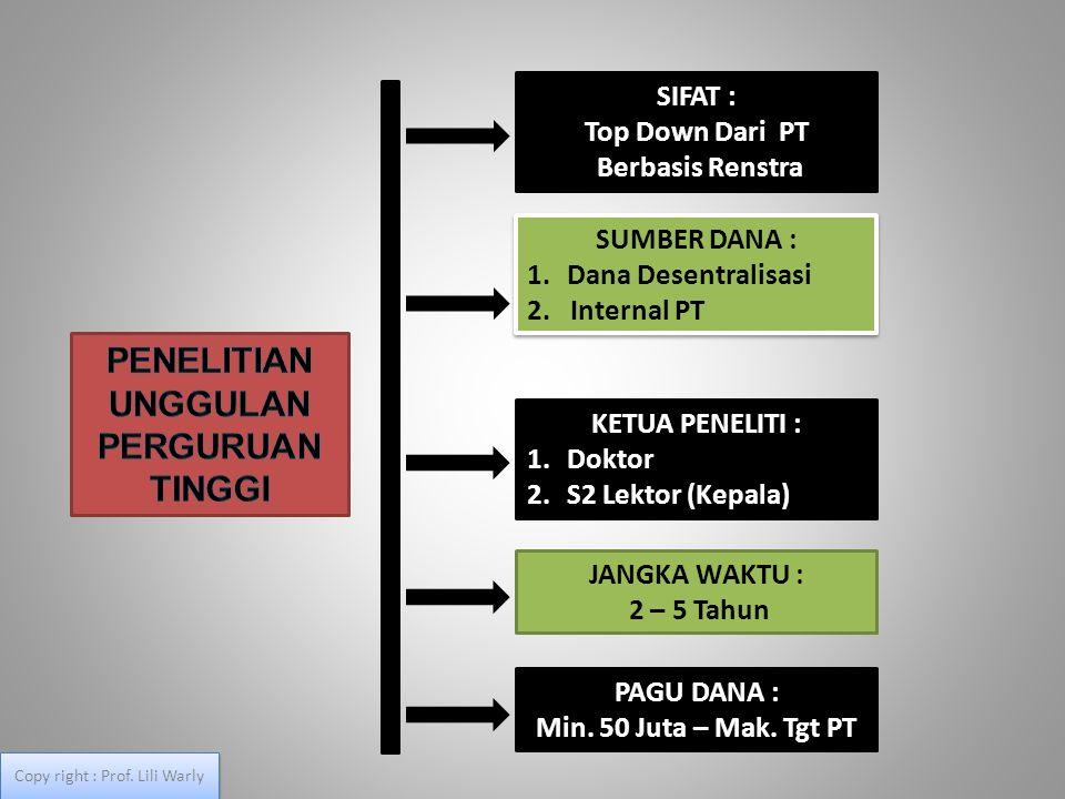 Kriteria dan Persyaratan Umum STRANAS a.Tim pengusul adalah dosen tetap PT yang memiliki NIDN, b.Tim pengusul maks.