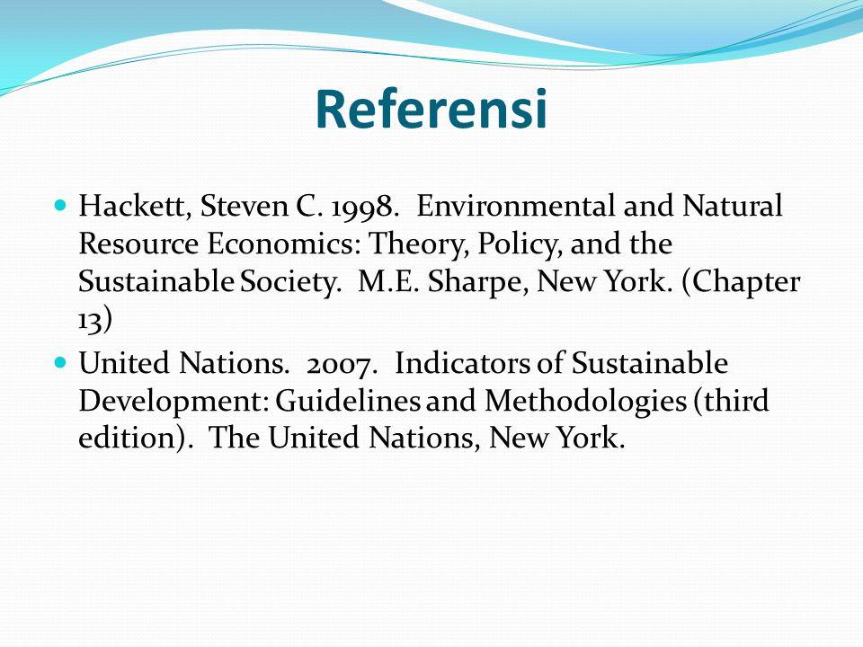 Referensi Hackett, Steven C.1998.