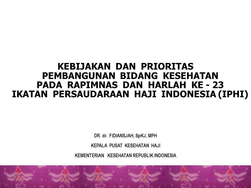 10 PERMASALAHAN KESEHATAN HAJI/UMROH TAHUN 2012M / 1433H 1.