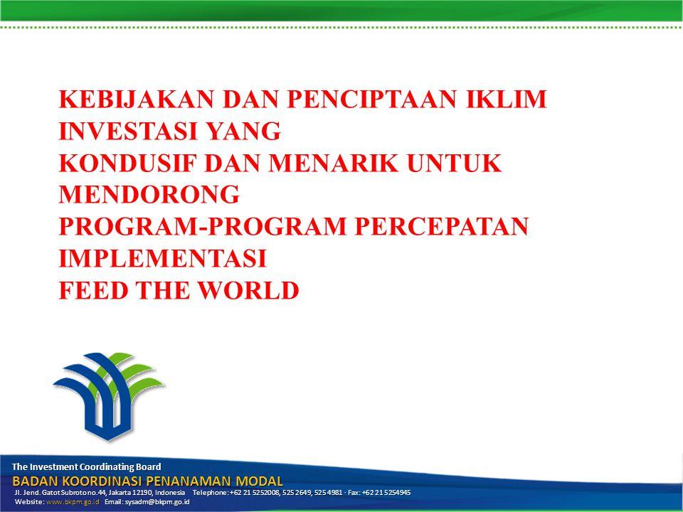Latar Belakang RUPM: investasi untuk pembangunan Pasal 4 (1) Pemerintah menetapkan kebijakan dasar penanaman modal untuk: a.