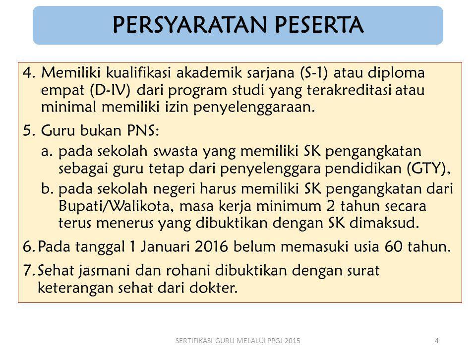 4.Memiliki kualifikasi akademik sarjana (S-1) atau diploma empat (D-IV) dari program studi yang terakreditasi atau minimal memiliki izin penyelenggara