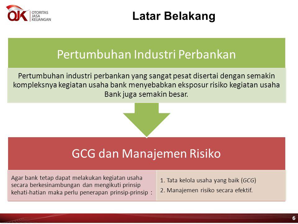 Latar Belakang GCG dan Manajemen Risiko Agar bank tetap dapat melakukan kegiatan usaha secara berkesinambungan dan mengikuti prinsip kehati-hatian mak