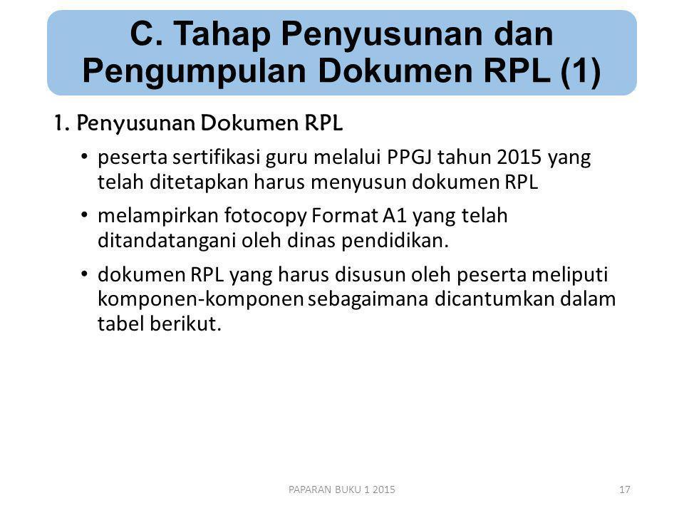 C.Tahap Penyusunan dan Pengumpulan Dokumen RPL (1) 1.