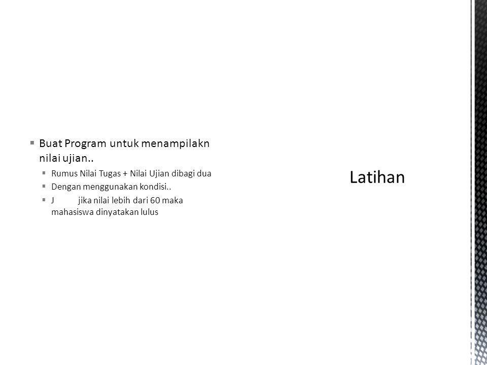  Buat program dengan swith..case untuk menampilkan hari dalam bahasa indonesia