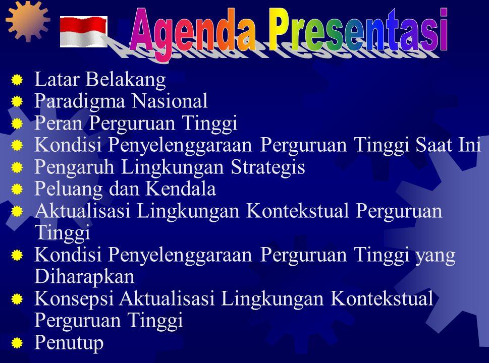 Wawasan Nusantara (Wasantara) adalah cara pandang dan sikap bangsa Indonesia mengenai diri dan lingkungannya yang bersumber pada Pancasila dan UUD 1945, dengan mengutamakan persatuan dan kesatuan wilayah Indonesia, serta tetap menghargai dan menghormati kebhinekaan dalam semua aspek kehidupan bermasyarakat, berbangsa, dan bernegara untuk mewujudkan cita-cita nasional  Landasan visional merupakan visi bangsa, yang mengutamakan kesatuan dan persatuan dalam segala dimensi kehidupan berbangsa, baik di bidang ekonomi, politik, sosial budaya, maupun pertahanan dan keamanan PARADIGMA NASIONAL (3) - WASANTARA SEBAGAI LANDASAN VISIONAL -