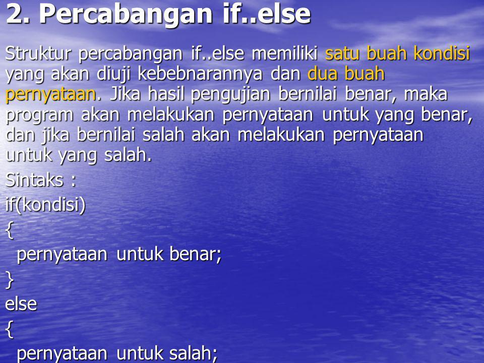 Diagram Alir Percabangan if..else