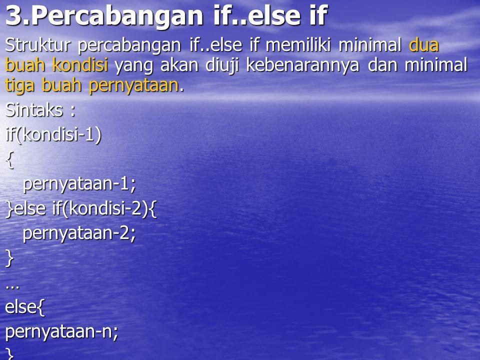 Diagram Alir Percabangan if..else if