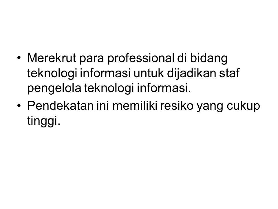 Merekrut para professional di bidang teknologi informasi untuk dijadikan staf pengelola teknologi informasi.