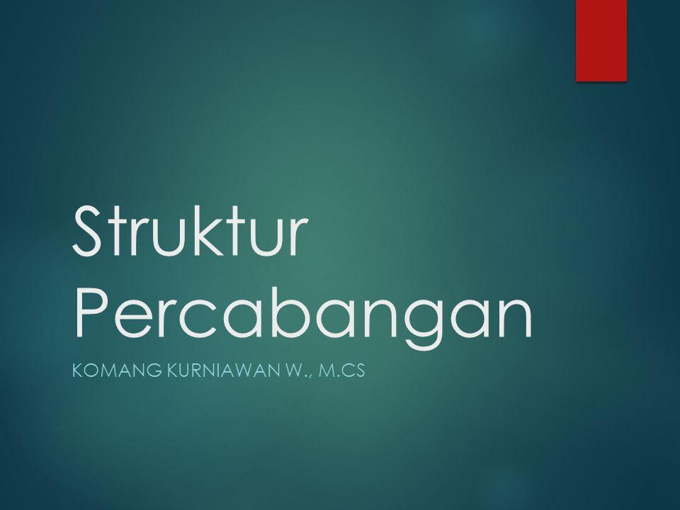 Struktur Percabangan KOMANG KURNIAWAN W., M.CS