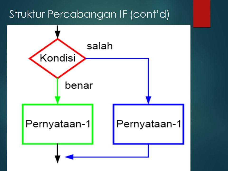Struktur Percabangan IF (cont'd)