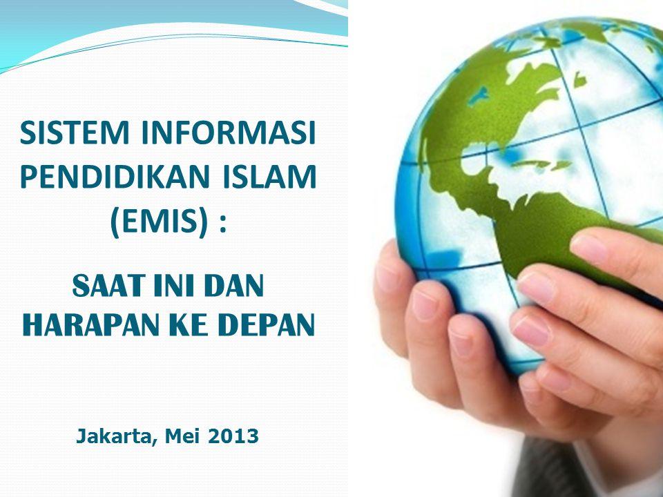 SISTEM INFORMASI PENDIDIKAN ISLAM (EMIS) : SAAT INI DAN HARAPAN KE DEPAN Jakarta, Mei 2013