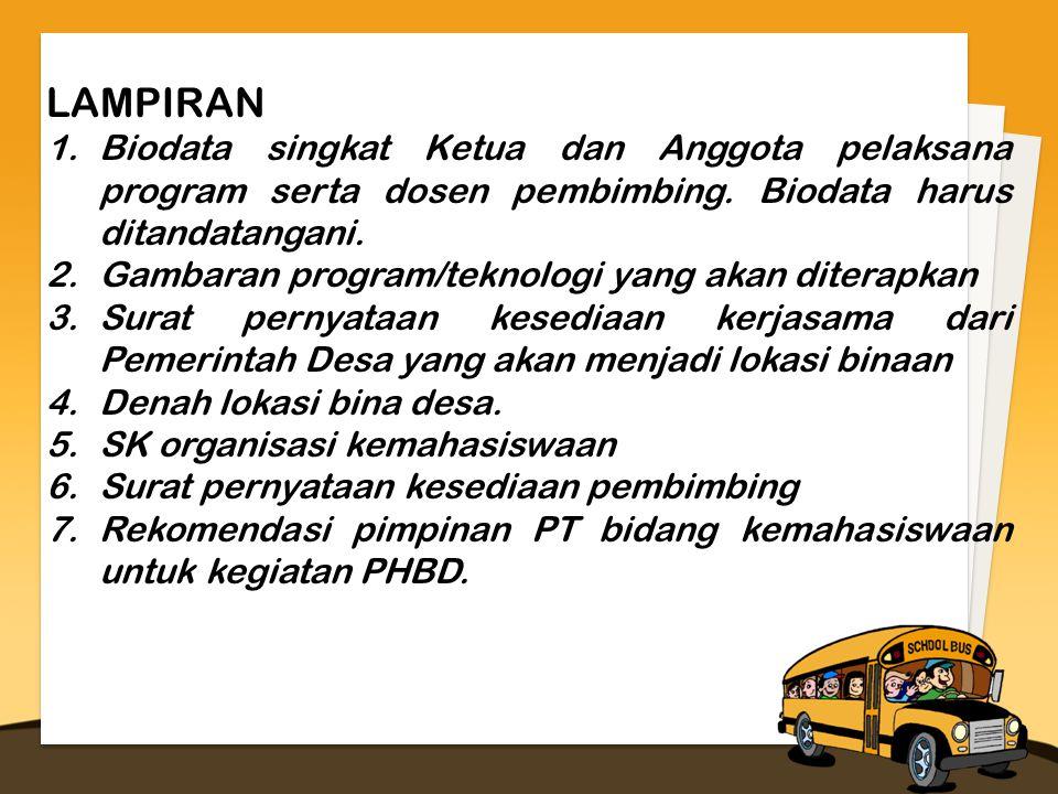 LAMPIRAN 1.Biodata singkat Ketua dan Anggota pelaksana program serta dosen pembimbing.