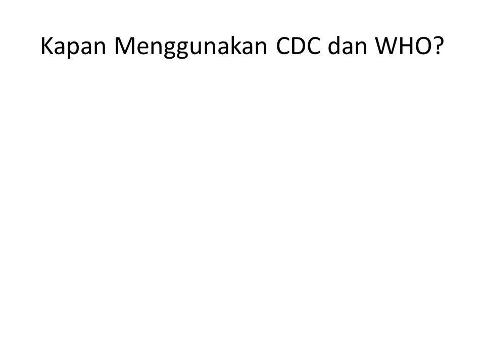 Kapan Menggunakan CDC dan WHO?